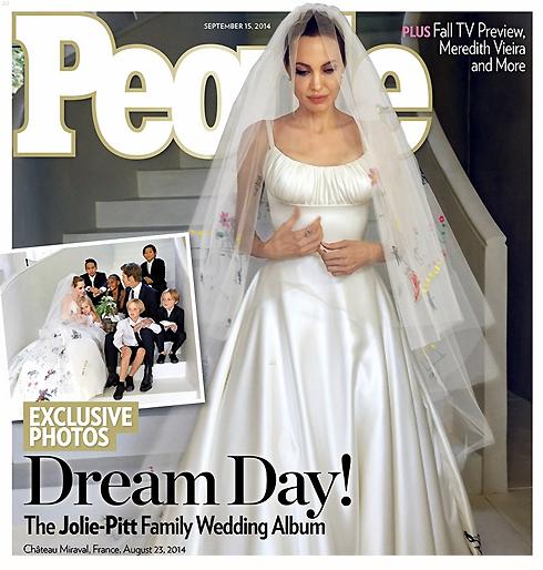 """Брэд Питт и Анджелина Джоли отметили """"бумажную"""" свадьбу"""