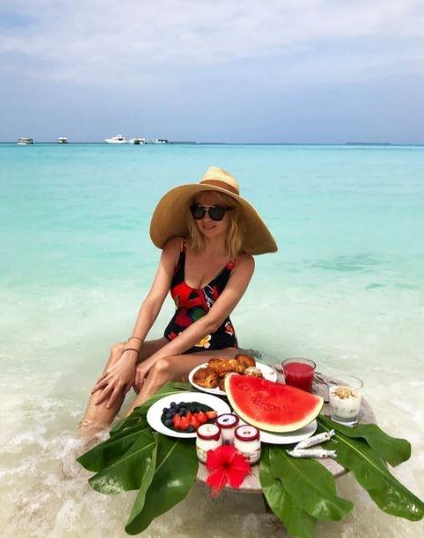 Как Яна Рудковская отдыхает на Мальдивах